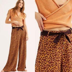NEW Free People Bennie printed wide leg Pants